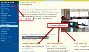 TOEP page for Presentations