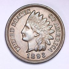 Indian Head Penny dated 1893 similar to the one found at SERC. Photo from ebay.