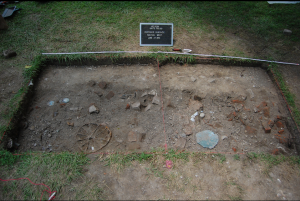 Cache Found at entrance of building. Source: Archaeology in Annapolis Flickr