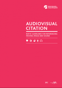 Front-cover-image-Audiovisual Citation Guidelines