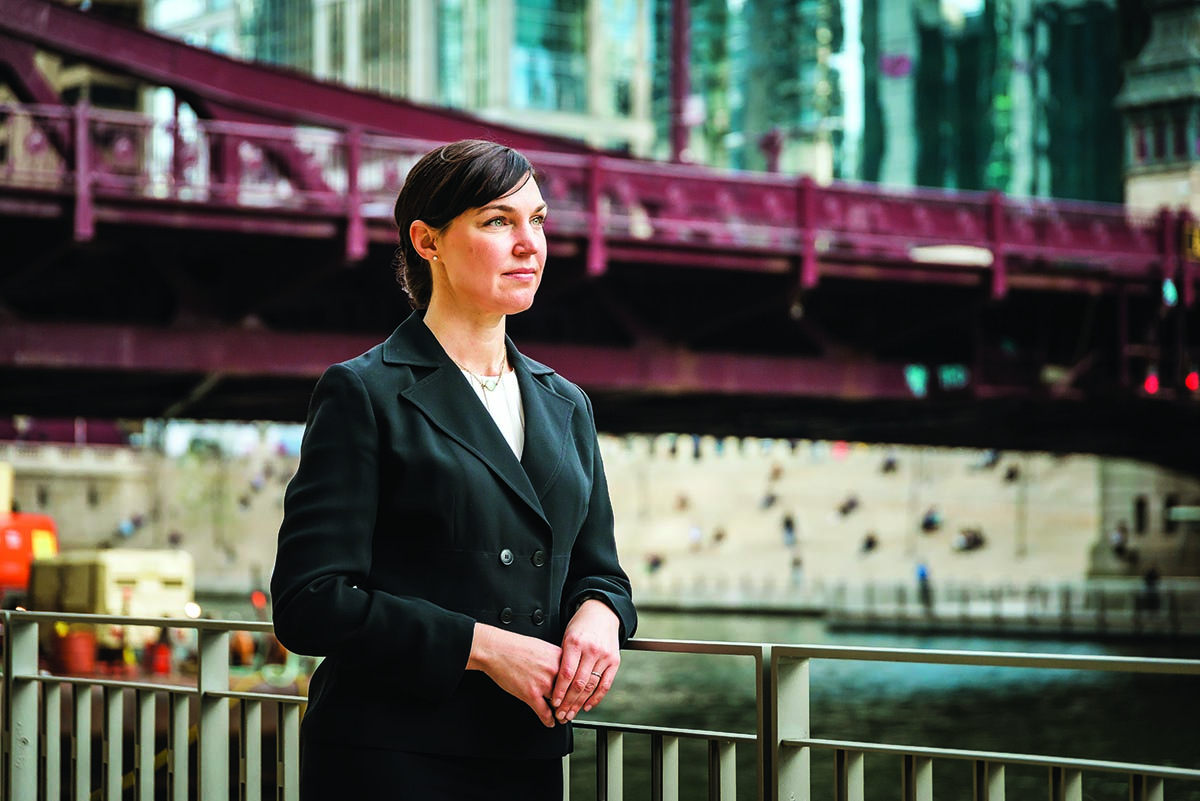 """Emily A. Benfer '99 is """"raising the next generation of socially-conscious attorneys and advocates"""" through Loyola University Chicago School of Law."""