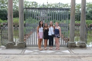 Students at the Boboli Gardens!