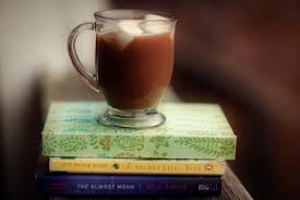 hot chocolate and a book
