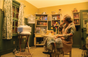 """Despite its realistic features, this scene is actually a part of The Great American Dollhouse Museum's """"Evolution of America"""" section."""