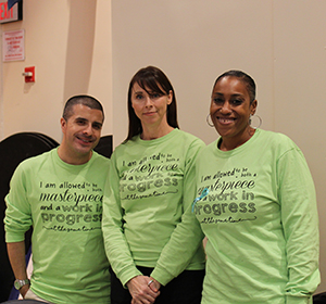 Three diverse personal counseling staff members