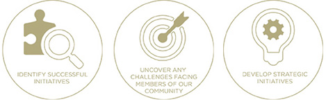 identify successful initiatives, uncover any challenges facing members of our community, develop strategic initiatives