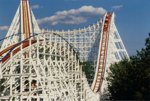 My favorite ride at Six Flags: American Eagle