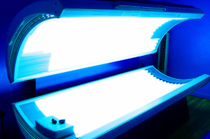 A tanning bed