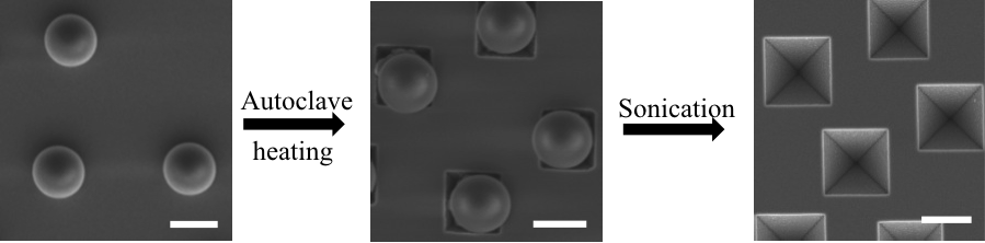 The poly(3,4-ethylenedioxythiophene) conducting polymer was grown via a vapor-phase polymerization on a nonwoven porous mat of polystyrene nanofibers containing ferric p-toluenesulfonate.  The fibers in the mat could be melt-welded by condensing the monomer vapor on the PS template fiber during the polymerization.