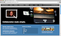 Screenshot of VoiceThread Home Page
