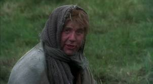 This is the witty Dennis, who schools King Arthur with his knowledge of government and politics.