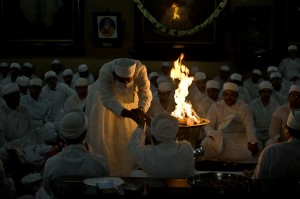 Jashan, a Zoroastrian thanksgiving ceremony celebrated around the symbolic fire