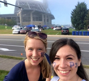 My roommate and I at a Penn State football game!
