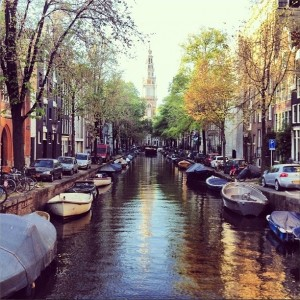 One of the many beautiful canals in Amsterdam, the Netherlands