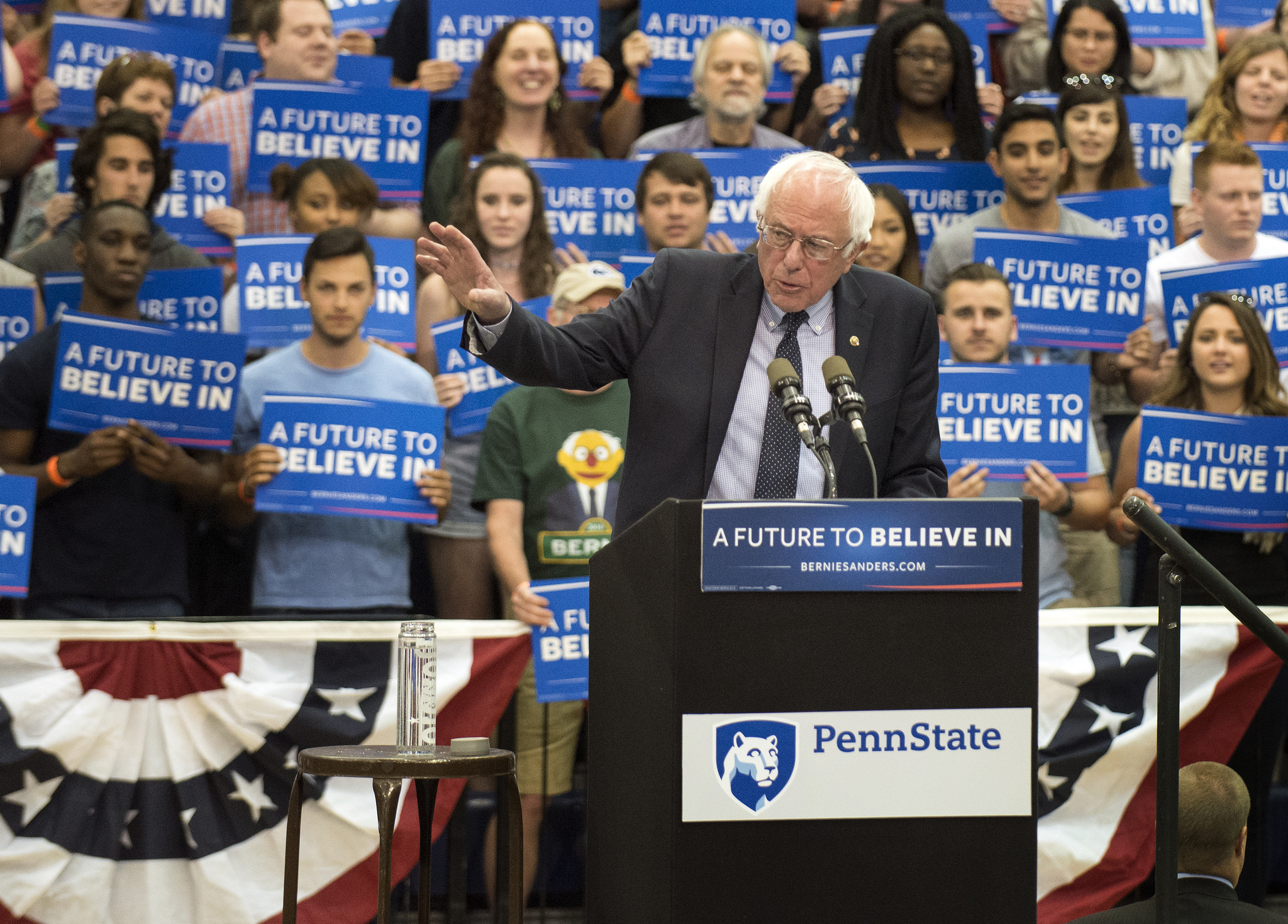 """""""[Sanders] has brought millions of young people into politics. According to CIRCLE, more youth have voted for Sanders than for Clinton and Trump combined,"""" writes Christopher Beem in a recent Fortune article. Photo credit: Penn State"""