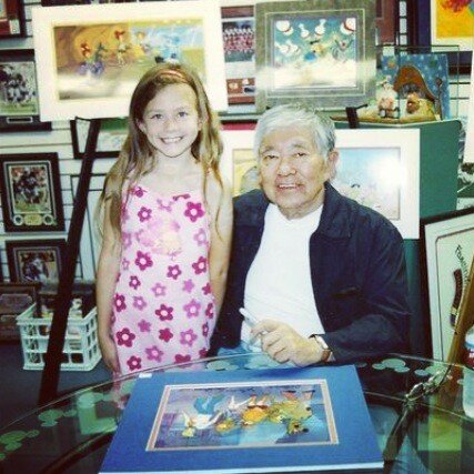 This is me and Iwao Takemoto, who was a producer for Scooby Doo. And probably one of the highlights of my life. :)