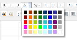 example of expanded more colors button for text
