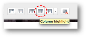 column highlight button circled