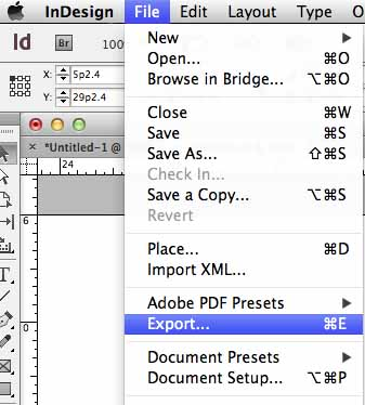 how to create a path in indesign