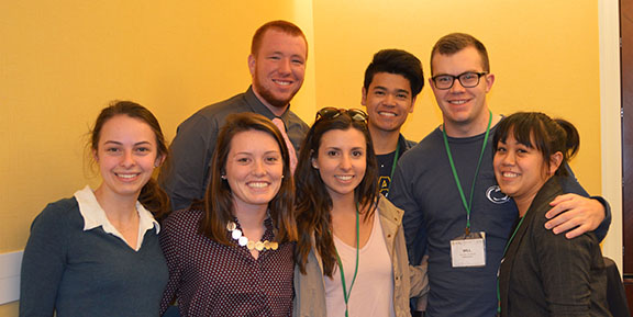 Geography students at AAG