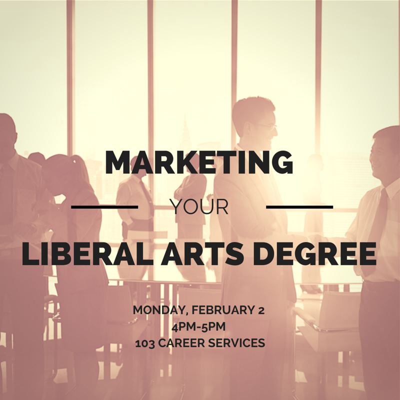 Marketing your liberal arts degree