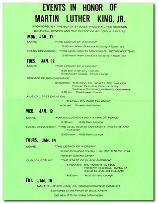 1988 Events in Honor of Martin Luther King, Jr. 1988