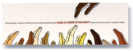 """Bookmark: Theme: """"Make A Career Of Humanity"""""""