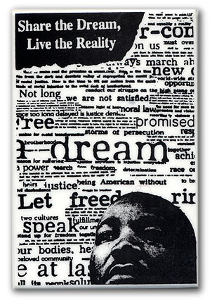 """Button: Theme: """"Share the Dream, Live the Reality"""""""