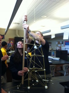 Much of the Engineering Ambassadors' work involved visiting middle and high schools to demonstrate the possibilities of the engineering field.
