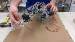 The robotic system was developed as part of a senior design class in mechanical engineering.