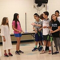 photo of elementary students performing Shakespeare