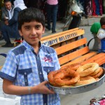 A boy selling simits in the old city, Sanliurfa