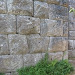 Ancient Greek, 5th century BCE walls of Butrint, with enormous polygonal stone blocks perfectly fitted to one another.