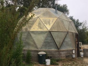 a small dome greenhouse