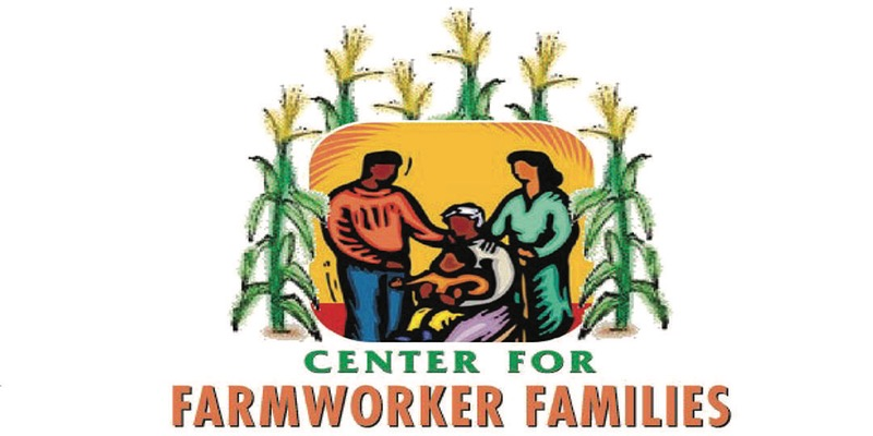 logo for the Center for Farmworker Families showing a family of farm workers.