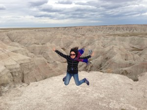 a snapshot at the Big Badlands in Wyming