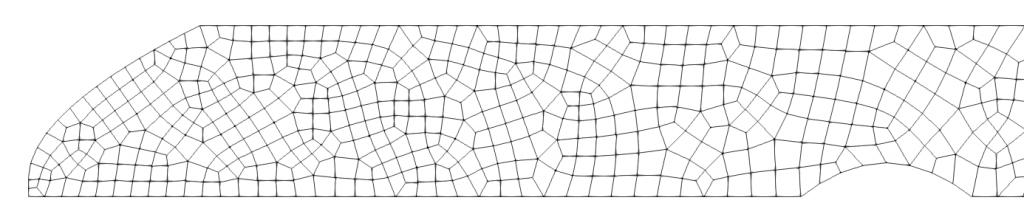 This image shows a quadrilateral 2D grid of a simplified fjord bathymetry
