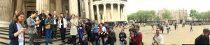 PIAO and friends read from the Paris Agreement at the British Museum, May 2016