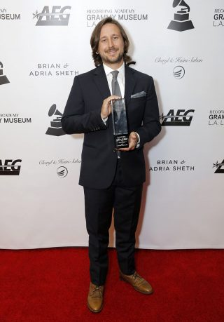 Nathan Strayhorn is pictured on the red carpet at the Grammy Museum event in Los Angeles.