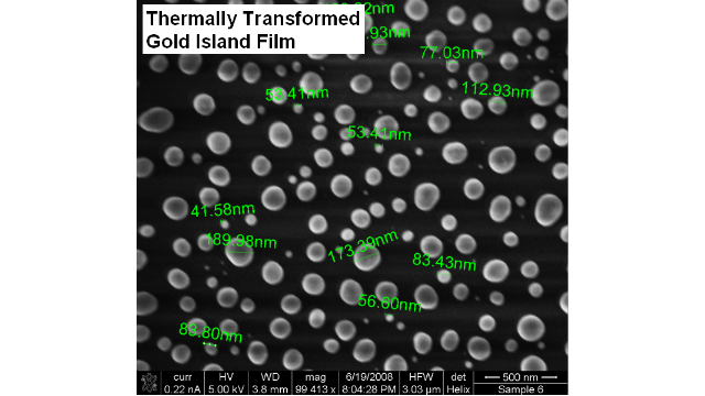 Thermally Transformed Gold Island Film